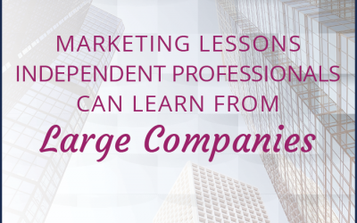 Marketing Lessons Independent Professionals Can Learn from Large Companies
