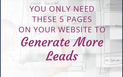 You Only Need These 5 Pages on Your Website to Generate More Leads